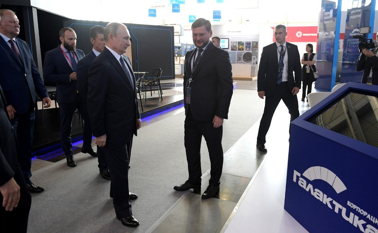 «Галактика» представила Владимиру Путину платформу цифровизации на ИННОПРОМ
